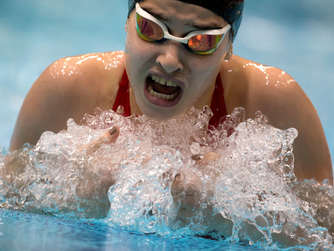 Yusra Mardini in ihrem Element.
