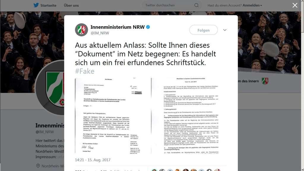 Bizarres Dokument! Innenministerium warnt vor diesen Anweisungen