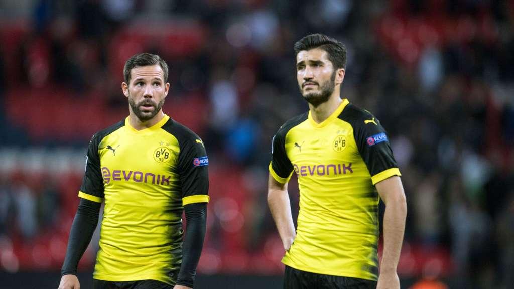 Schlechte Laune nach der Niederlage in London Gonzalo Castro und Nuri Sahin