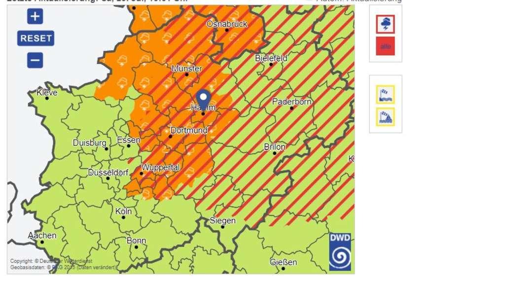 DWD warnt vor Unwettern in Sachsen