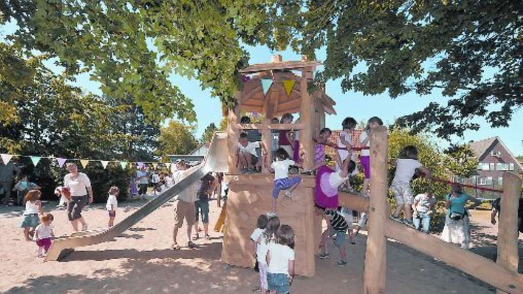 Klettergerüst Planer : Uentroper kindertagesstätte freut sich über 9 000 euro spende hamm