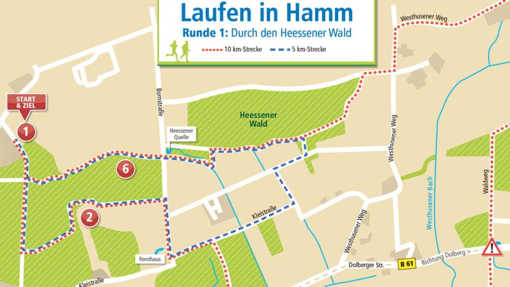 Hamm Karte.Laufen In Hamm 1 Durch Den Heessener Wald Hamm