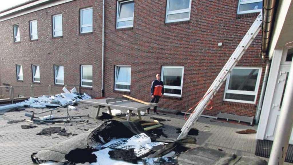 """""""Haus am Meer"""" Herbststurm auf Wangerooge weht Dach davon"""