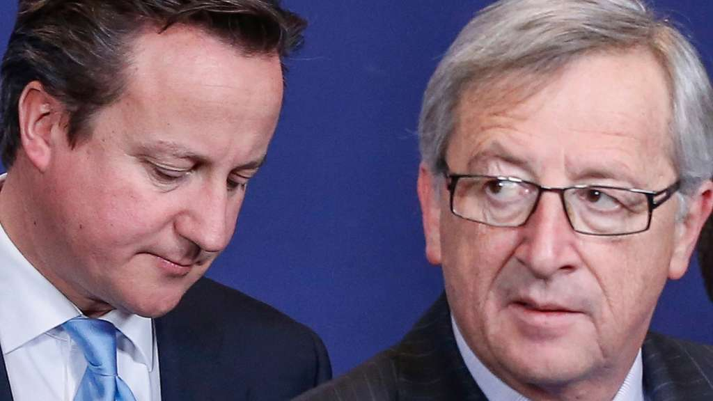 David Cameron, Jean-Claude Juncker