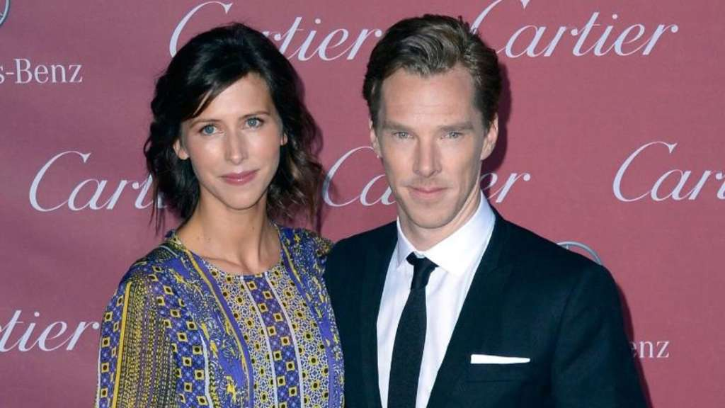 Kürzlich in Palm Springs: Benedict Cumberbatch und seine Verlobte Sophie Hunter. Foto: Paul Buck
