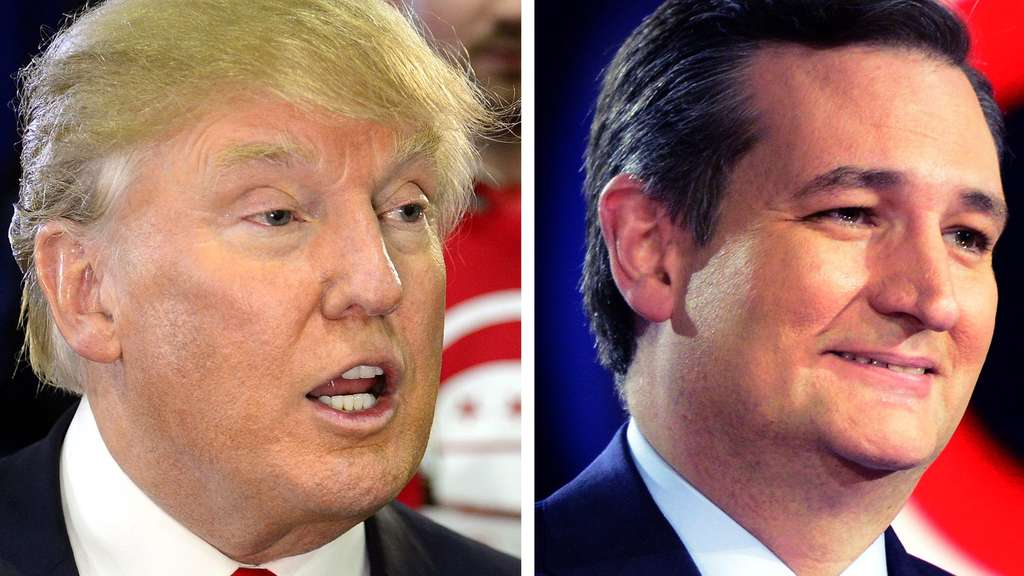 US-Republikaner Donald Trump und Ted Cruz