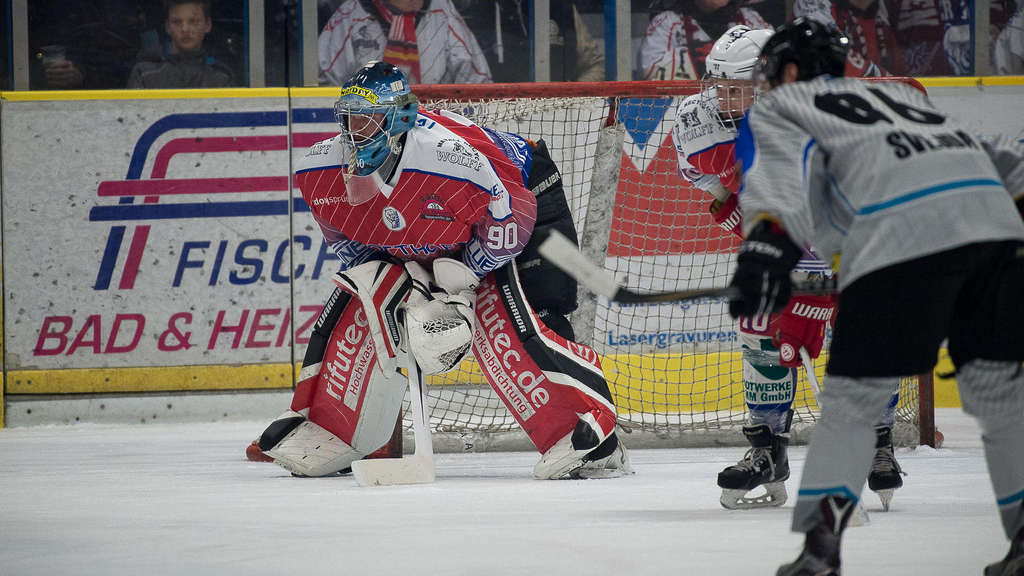 Eisbären-Goalie Sebastian May.