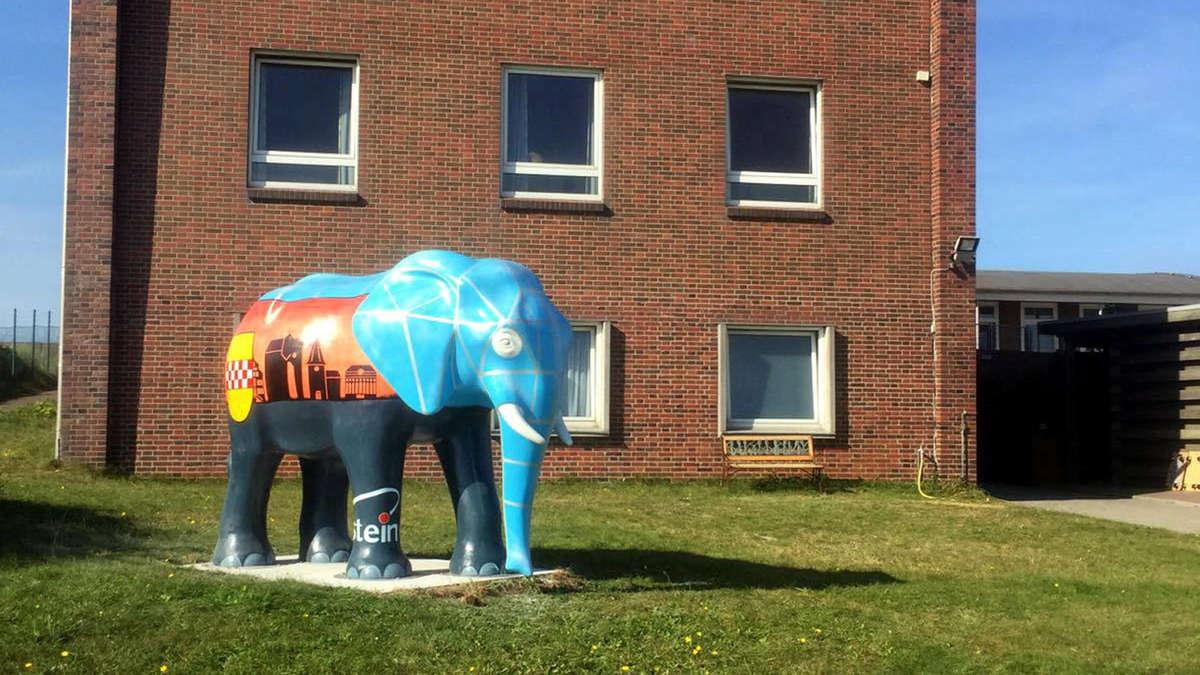 """Hammer Wahrzeichen der Elefant steht jetzt auch am """"Haus"""