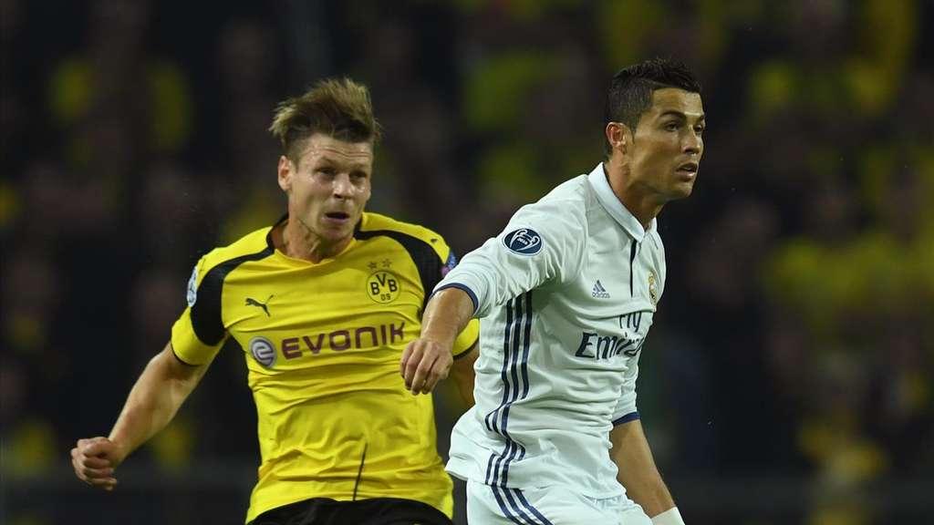 Die Champions League Partie Zwischen Real Madrid Und Borussia