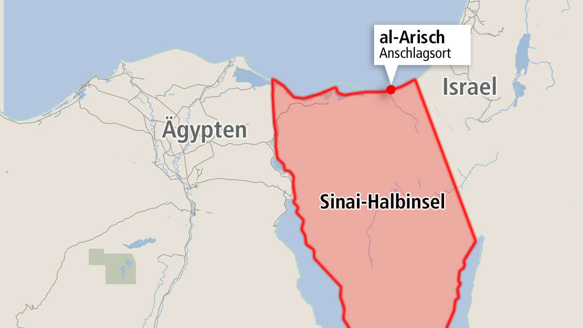 Sinai Halbinsel Karte