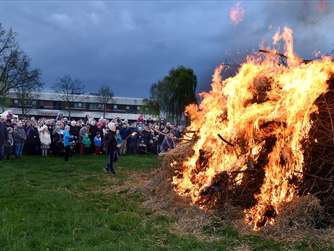 Osterfeuer in Hamm
