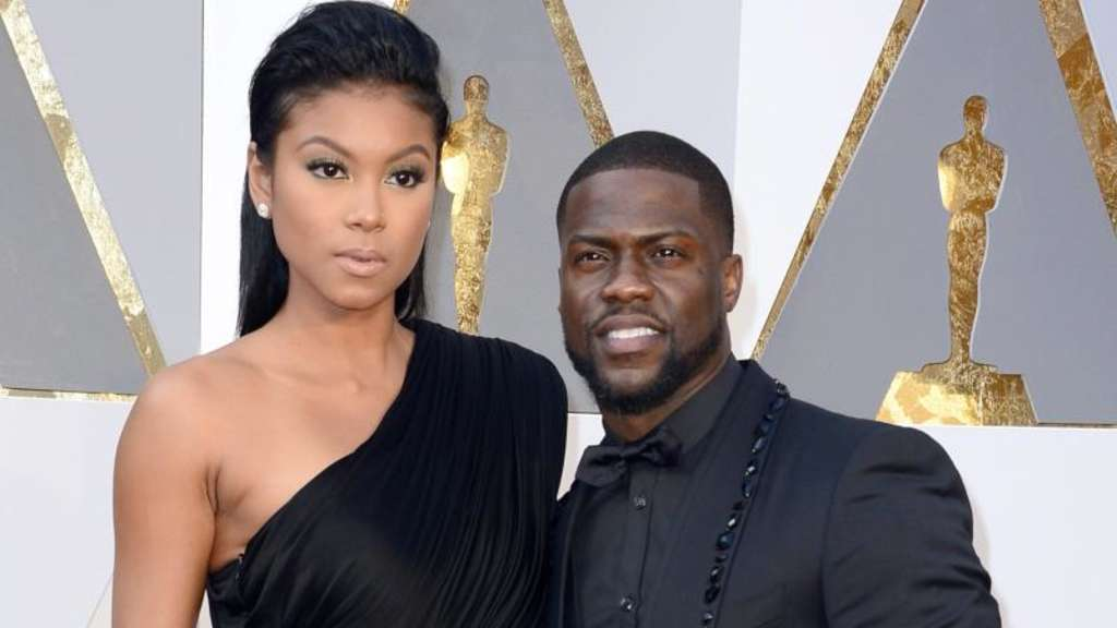 Eniko Parrish (l) and Kevin Hart 2016 bei der Oscar-Verleihung. Foto: Mike Nelson