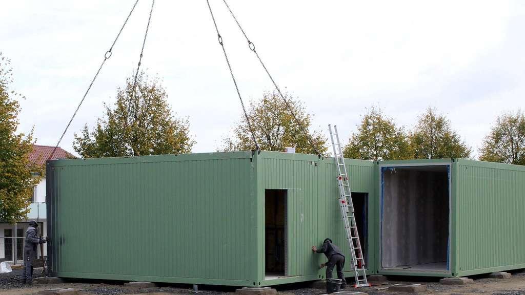 Container Module Für Kita Werden Angeliefert Herbern