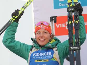 Biathlon-Star Dahlmeier Sprint-Zweite in Antholz