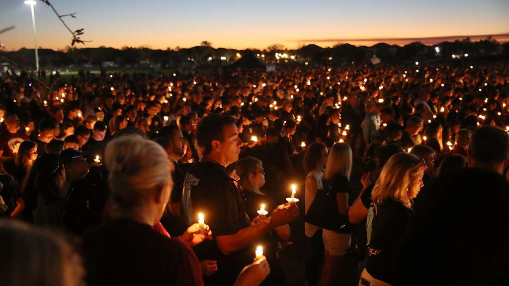 Florida Town Of Parkland In Mourning, After Shooting At Marjory Stoneman Douglas High School Kills 17