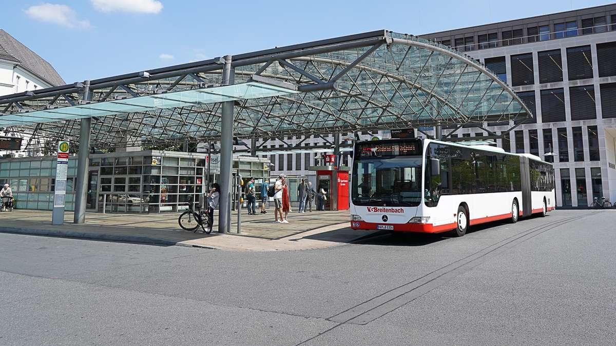 fahrbahnen am busbahnhof hamm werden erneuert hamm mitte. Black Bedroom Furniture Sets. Home Design Ideas