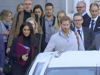 Prinz Harry und Meghan in Down Under gelandet