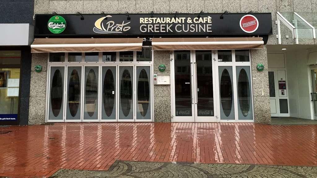 Griechisches Restaurant Proto Am Markt In Hamm Geschlossen Zukunft