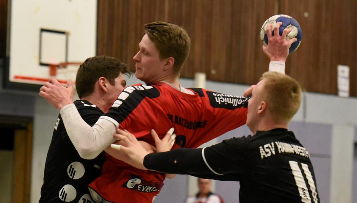 Gegen seine Ex-Mannschaft warf Jonas Gerke in Hamm sechs Tore.© Reiner Mroß