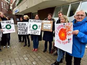 Klimaprotest in Werne -Parents for Future