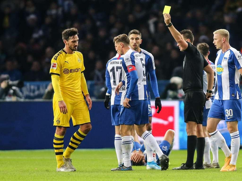 Kommentar Gelb Rote Karte Fur Mats Hummels Gegen Hertha Bsc