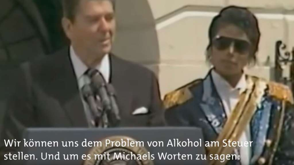 "Der damalige US-Präsident Ronald Reagan zitierte Michael Jacksons Song ""Beat it"" in seiner Rede"