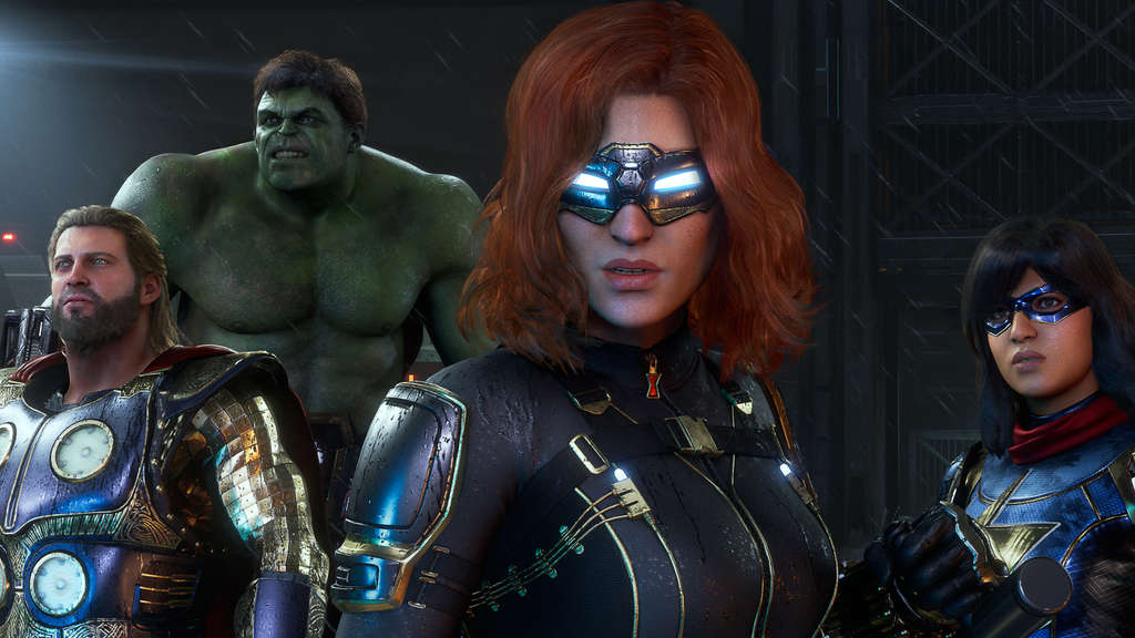 Marvels Avengers Thor Hulk Black Widow Ms Miss Marvel Crystal Dynamics
