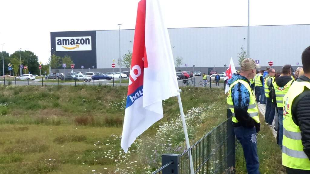 Streik bei Amazon in Werne