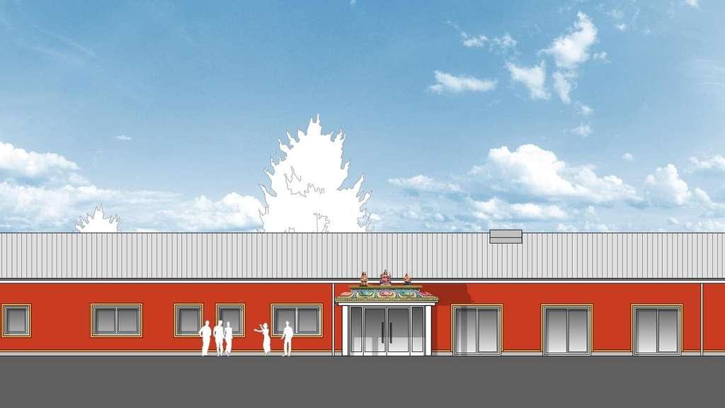 Hindu-Kulturzentrum in Hamm Uentrop: Plan von Architekt Heinz-Rainer Eichhorst für die Hinduistische Gemeinde Deutschland