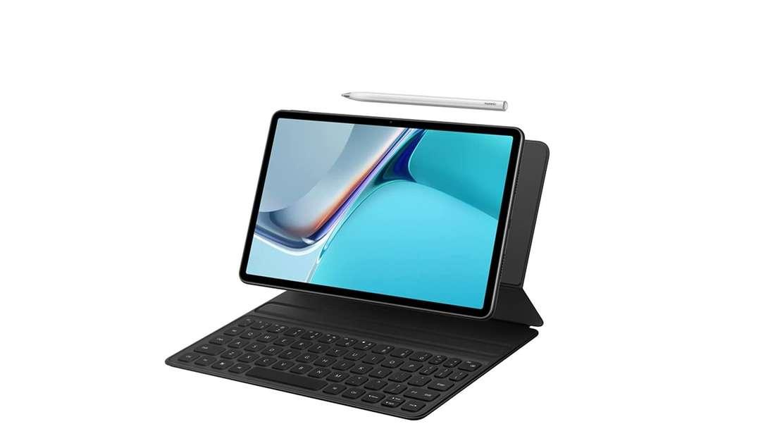 Huawei MatePad 11 mit M-Pencil und Keyboard.
